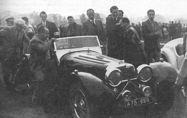 ROK 1947 FOTO.7 WYŚCIG SAMOCHODOWO-MOTOCYKLOWY
