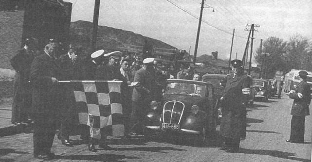 ROK 1950 FOTO.1 START DO JAZDY PATROLOWEJ