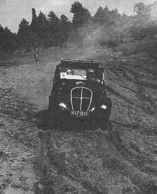 ROK 1954 FOTO.7 JEDNODNIOW JAZDA KONKURSOWA ŁÓDŹ