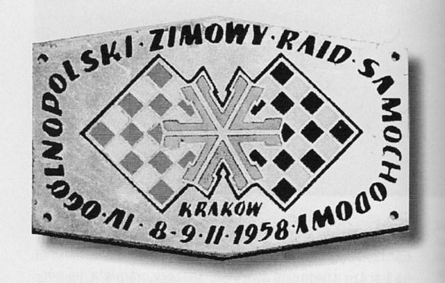 ROK 1958 FOTO.17 IV OGÓLNOPOLSKI ZIMOWY RAJD SAMOCHODOWY