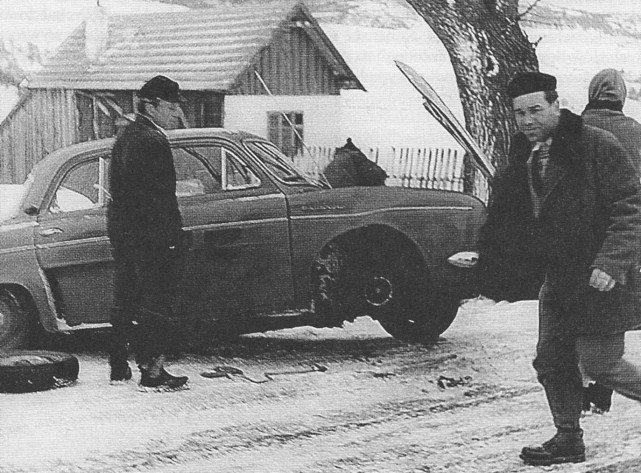 ROK 1959 FOTO.23 V OGÓLNOPOLSKI ZIMOWY RAJD SAMOCHODOWY