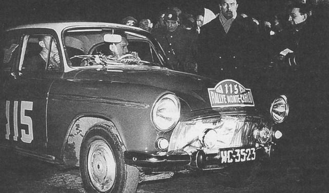 ROK 1960 FOTO.1 RAJD MONTE CARLO - MIECZYSŁAW SOCHACKI